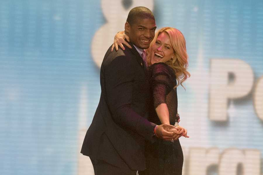St. Louis Rams former defensive end Michael Sam is partnered with Peta Murgatroyd.