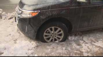 Some residents of Uptown Pittsburgh are unable to move their vehicles because of thick ice that formed after a water main break on Forbes Avenue.