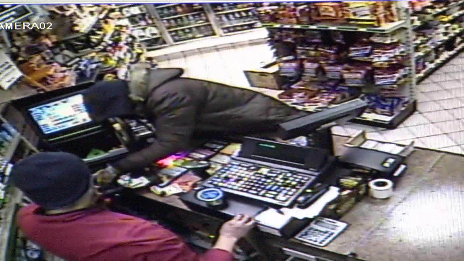Surveillance footage from Ambridge BP.