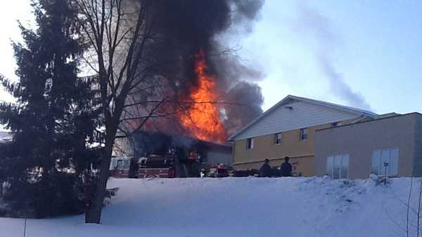 A fire damaged a building at the brewery where Straub Beer is made in St. Marys, Pa.