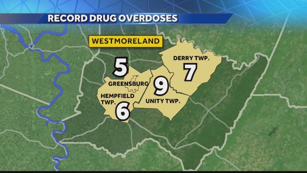 A record number of deaths involving suicides and accidental drug overdoses in Westmoreland County.