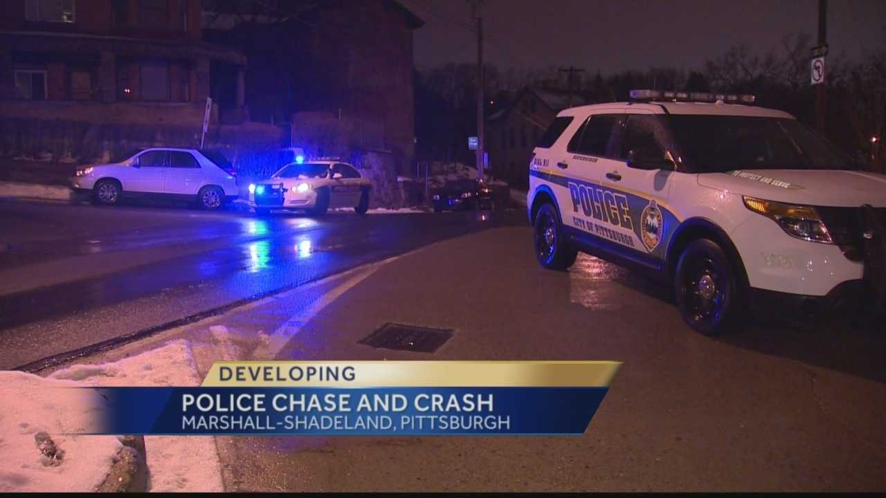 Pittsburgh's Action News 4's Jackie Schafer has the latest on the Pittsburgh Police chase and eventual head-on crash in the Marshal-Shadeland area of Pittsburgh.