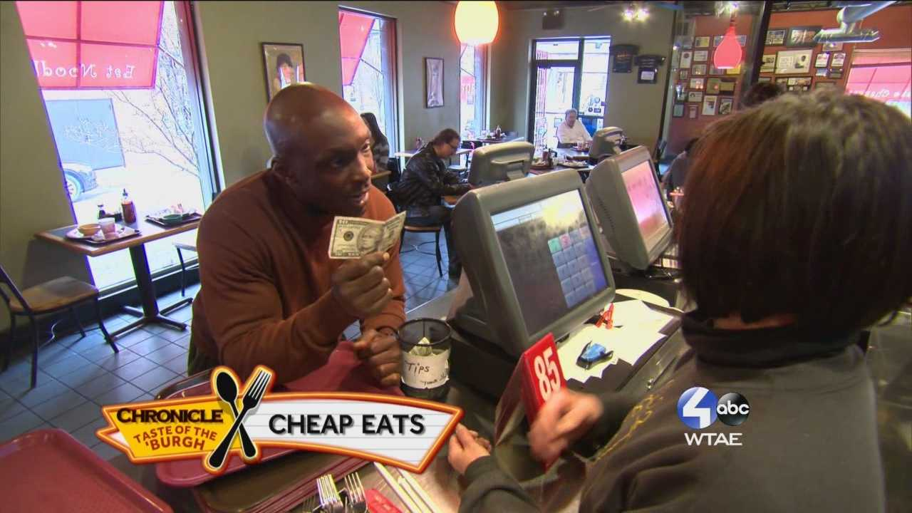 WTAE Chronicle Reporter Sheldon Ingram shows us the places where you can eat well for under $10 in the Pittsburgh region.