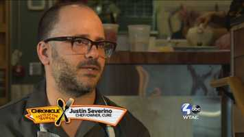 Justin Severino, Chef/Owner of Cure --- @JustinSeverino and@curepittsburgh on Pittsburgh
