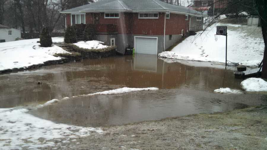 Flooded house from hempfield township retention pond