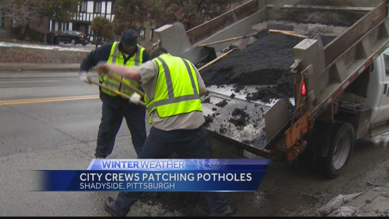 City crews patching potholes
