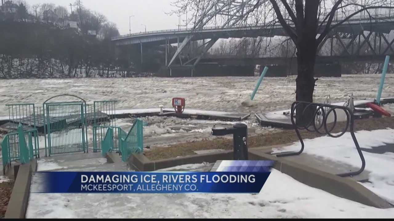 Pittsburgh's Action News 4's Michelle Wright has the latest on the various rivers and their conditions including ice jams, flooding, and runaway barges.