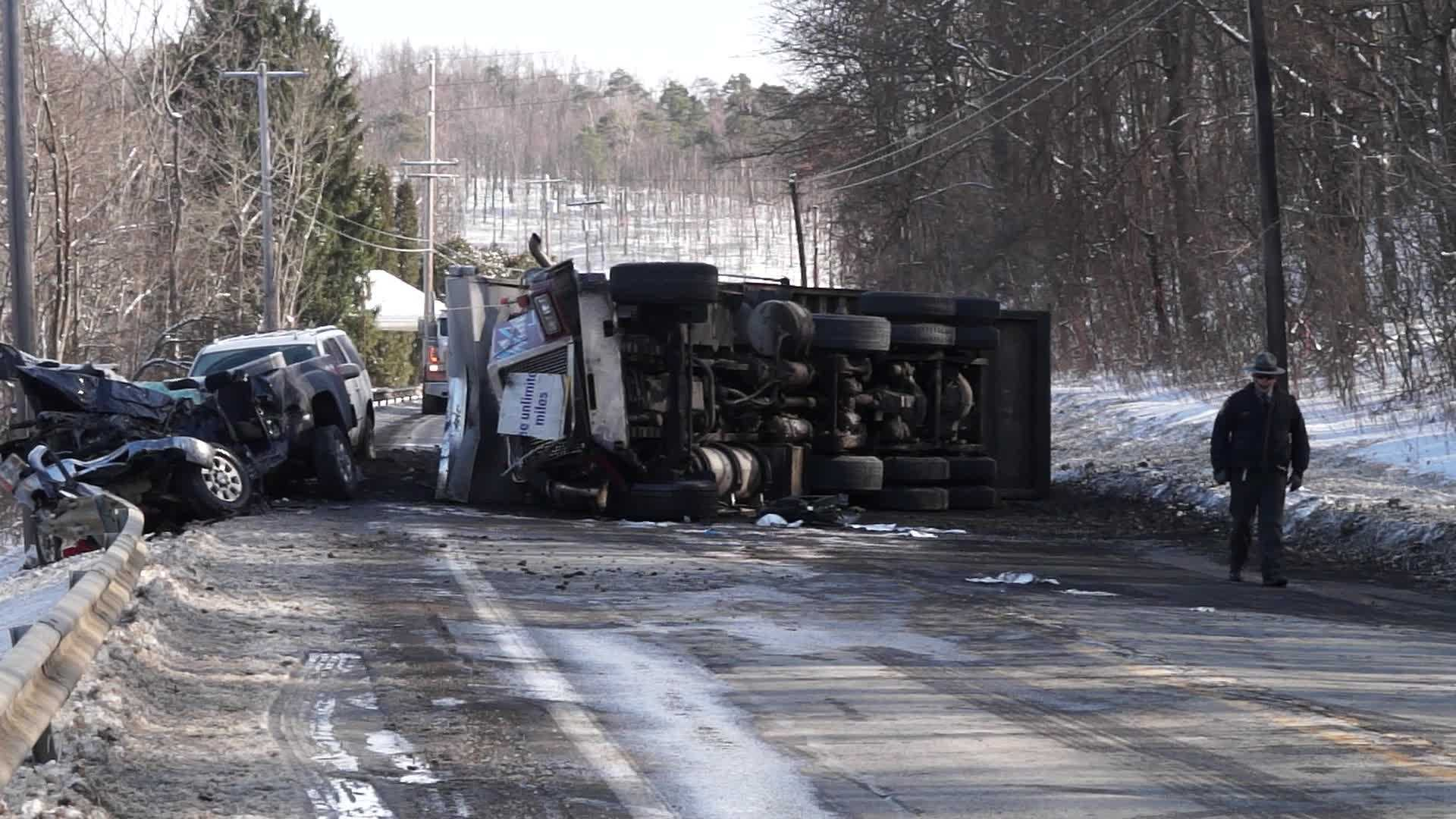 A coal truck was involved in a multi-vehicle accident that closed Route 422 in Kittanning Township Friday afternoon.