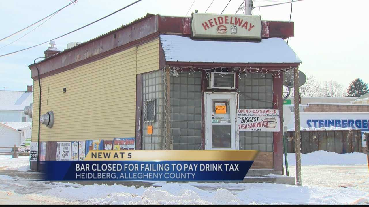 Bar closed for failing to pay drink tax.