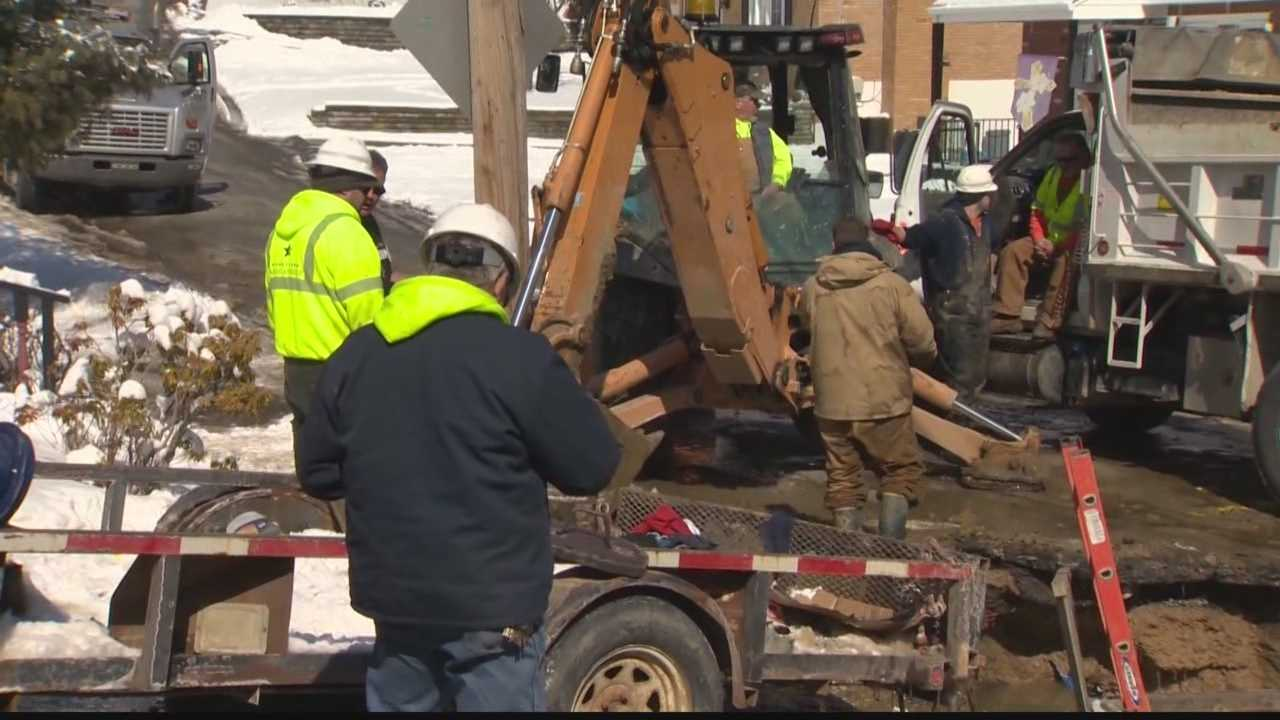 Penn America Water Company works to repair a Baldwin water main break.