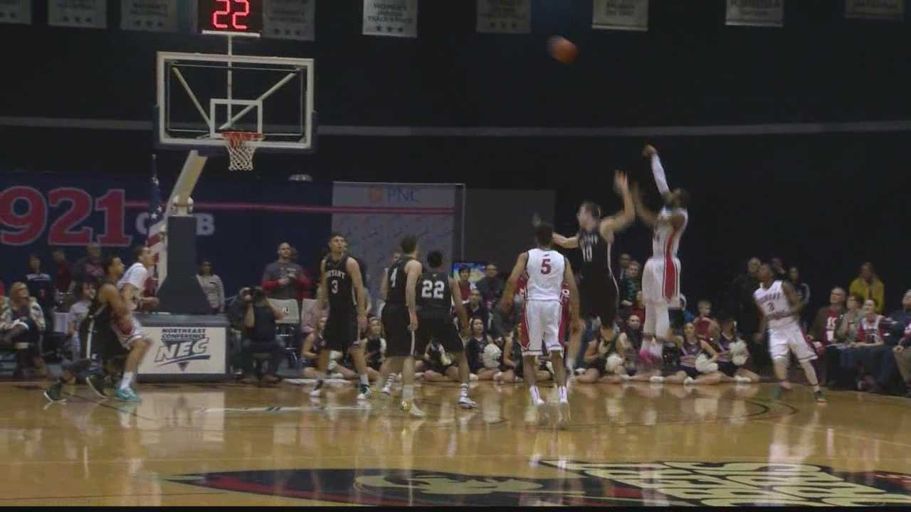 Lucky Jones shoots the ball for the Colonials.