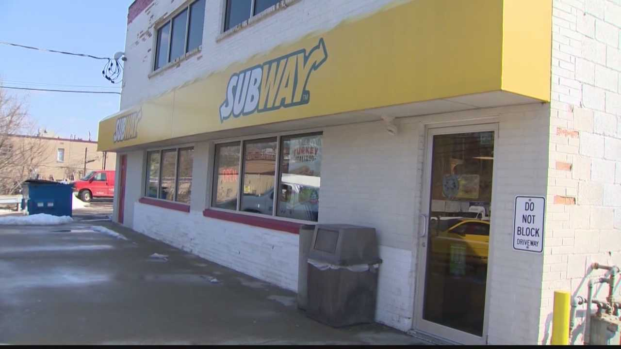 The Subway restaurant on McNeilly Road in Baldwin Township was robbed by a man carrying a knife in his hand and a gun in his pocket on Sunday afternoon, police said.