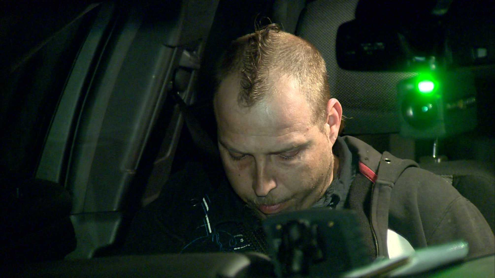 Police have arrested a man who they say backed his car into a 12-year-old girl on purpose in Ronco, Fayette County.