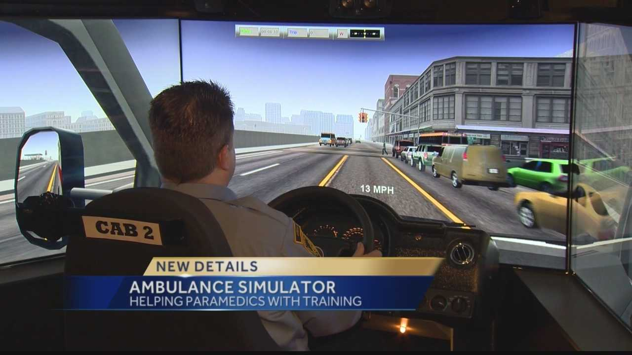 Local paramedics are getting extra practice behind the wheel thanks to a new simulator that will travel to 135 departments over the next year.