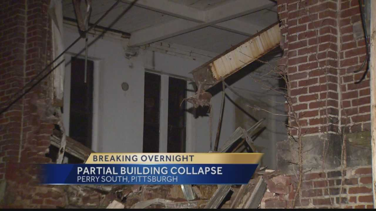 Pittsburgh's Action News 4's Amber Nicotra reports from the Perry South neighborhood of Pittsburgh where a vacant building comes crumbling to the ground overnight.