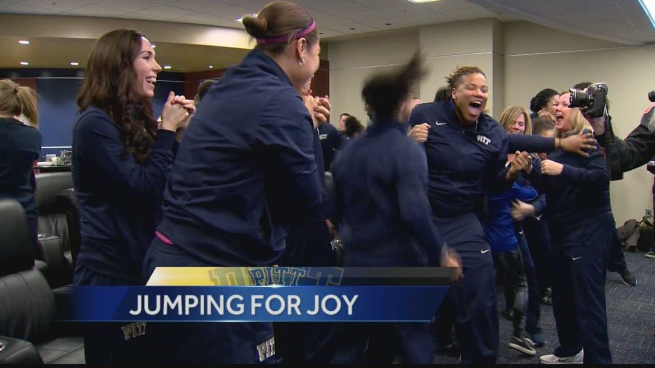Pittsburgh's Action Sports' Ryan Recker has the reaction from the team and fans as the Pitt Women's basketball team is selected for the NCAA Tournament for the first time in years.