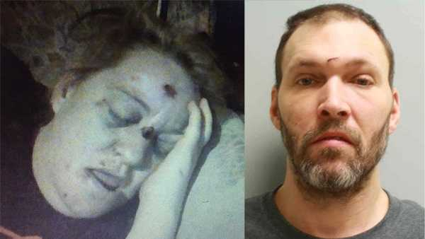 Glenn Whittier (right) is charged with inflicting a beating that sent his girlfriend, Stacey Myers (left) to the hospital.
