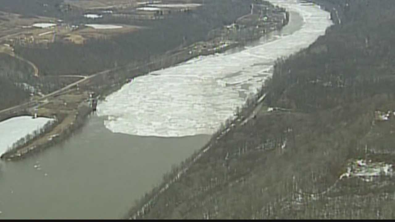 Allegheny River ice jams