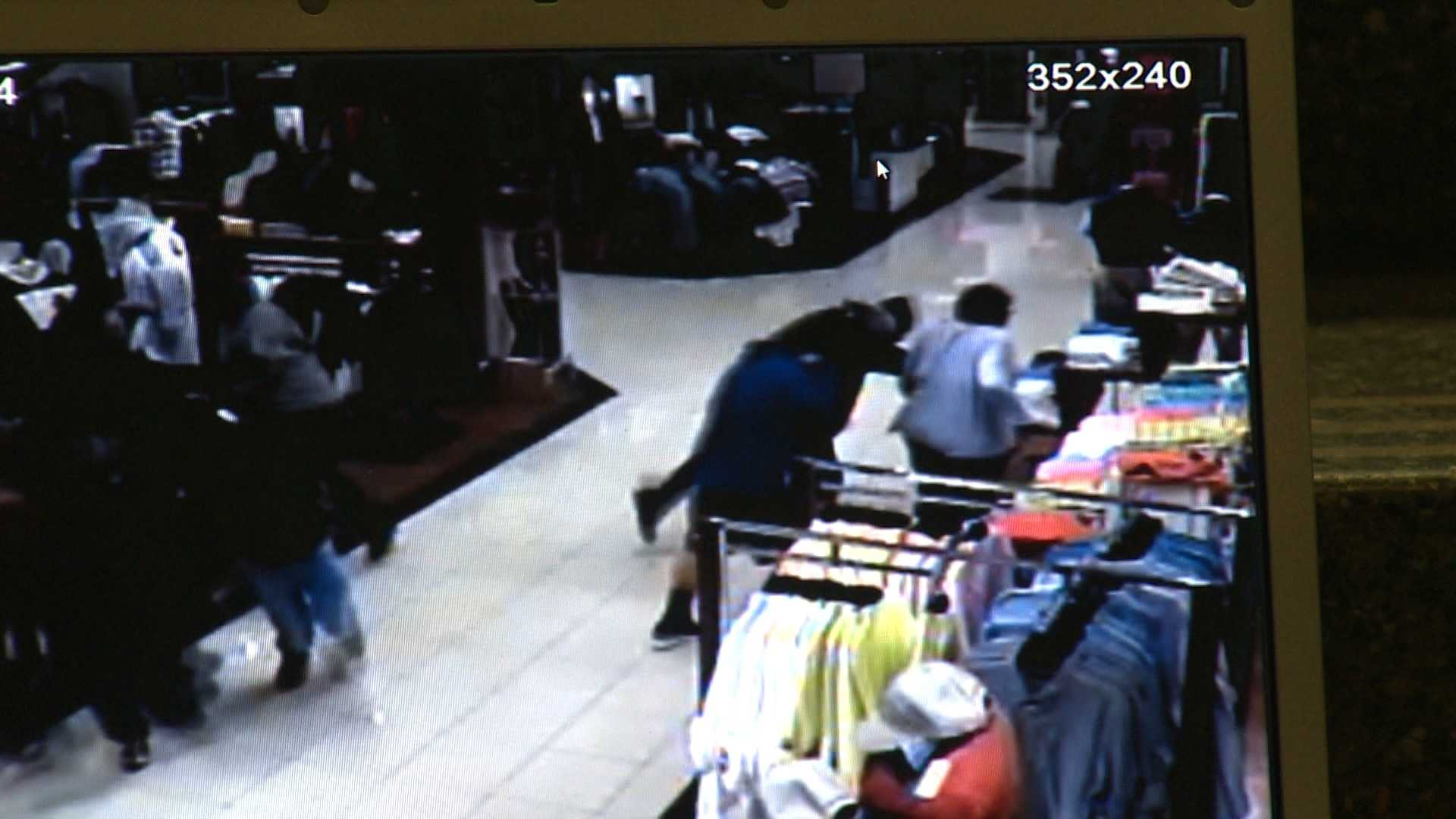 Surveillance image of Monroeville Mall shooting