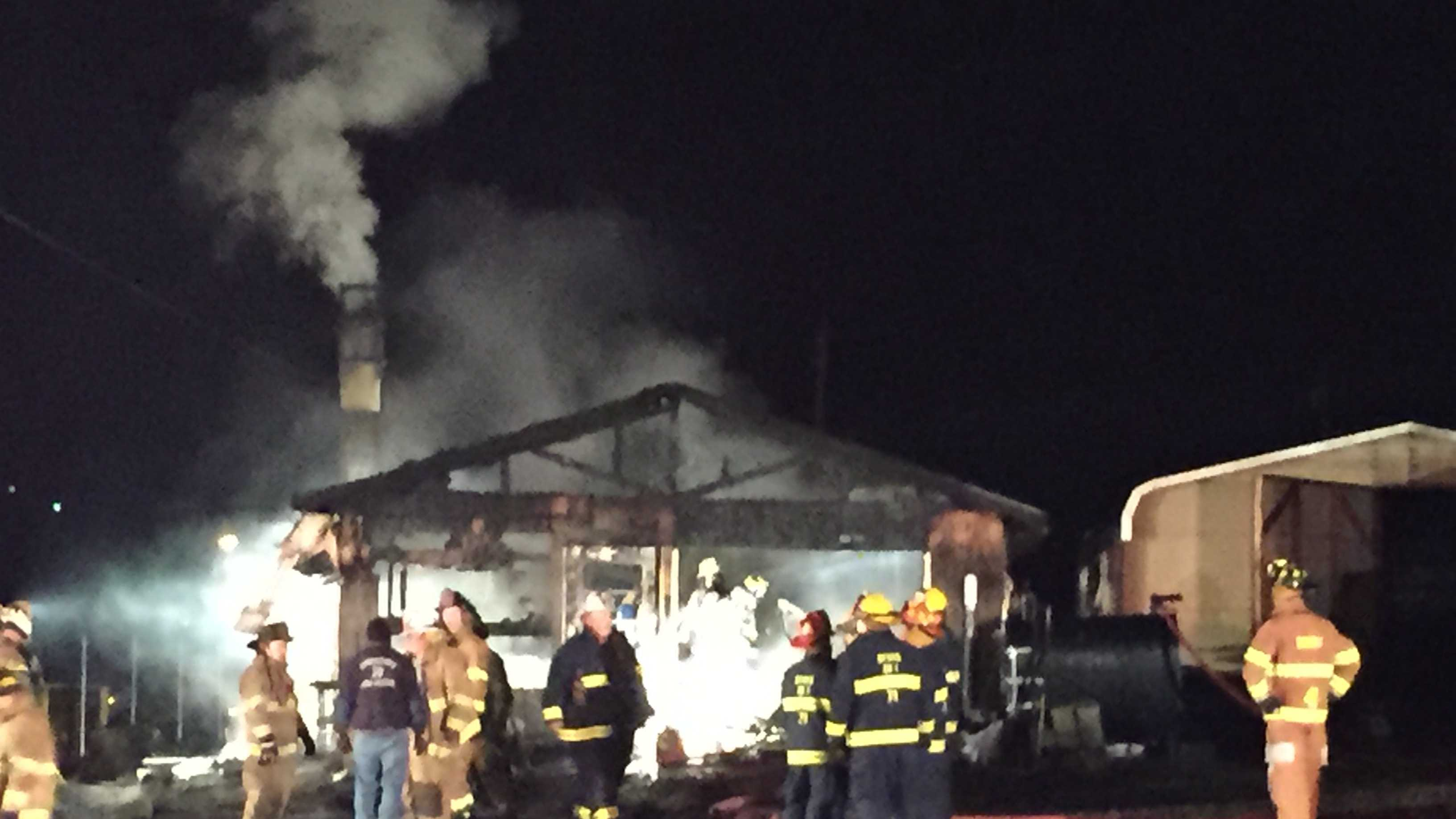 Crews responded to a fire at a greenhouse in Derry Township early Thursday morning.