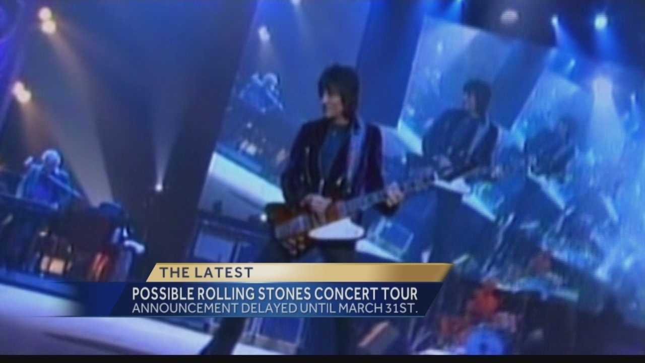 Pittsburgh's Action News 4's Michelle Wright has the latest on the delay in announcing the Rolling Stones tour with a possible tour stop in Pittsburgh.