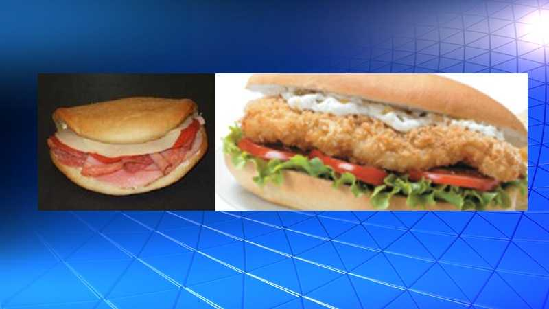Little Italy Panini (left), Japanese Breaded Cod Fillet (right)