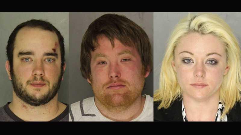 Left to right: Zachary Willis, Evan Blodgett, Destinee Knox