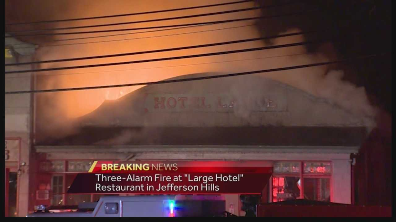 Pittsburgh's Action News 4's has the latest from the fire at the Jefferson Hills Large Hotel Restaurant.