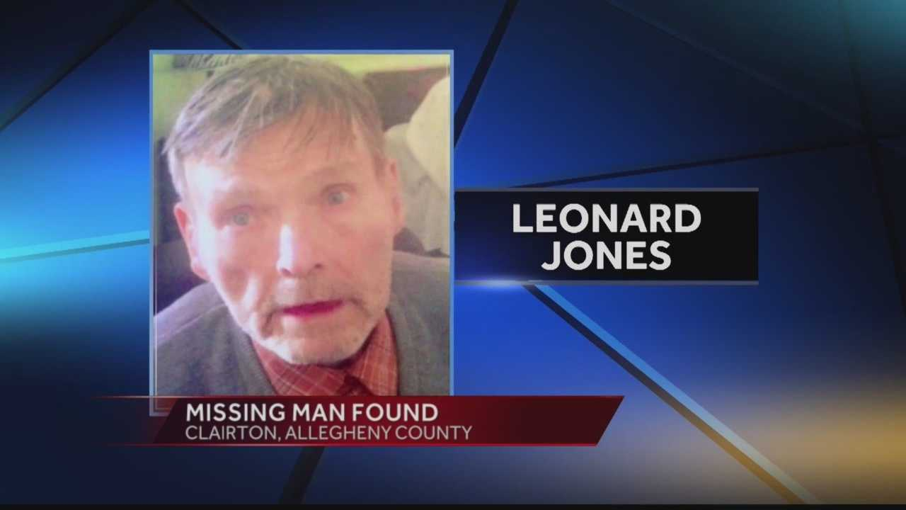 Missing man, Leonard Jones, found alive.