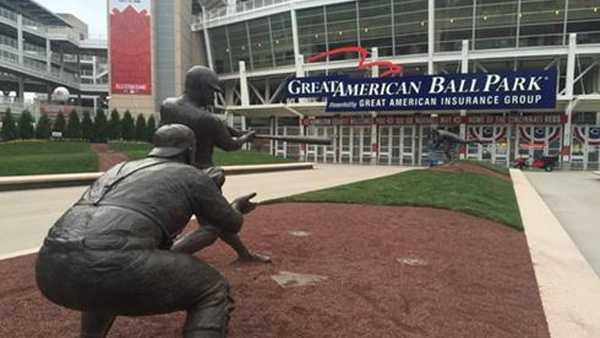 Great American Ball Park is the home of the Cincinnati Reds.