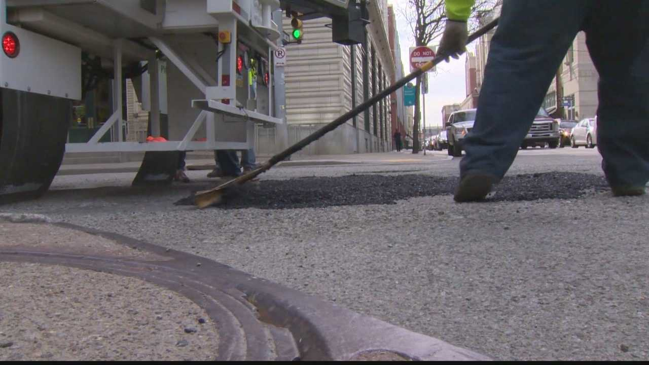 The Roadmixer 10 has never been used in a North American City, but now, it's out... and trying to patch up Pittsburgh's notorious potholes.