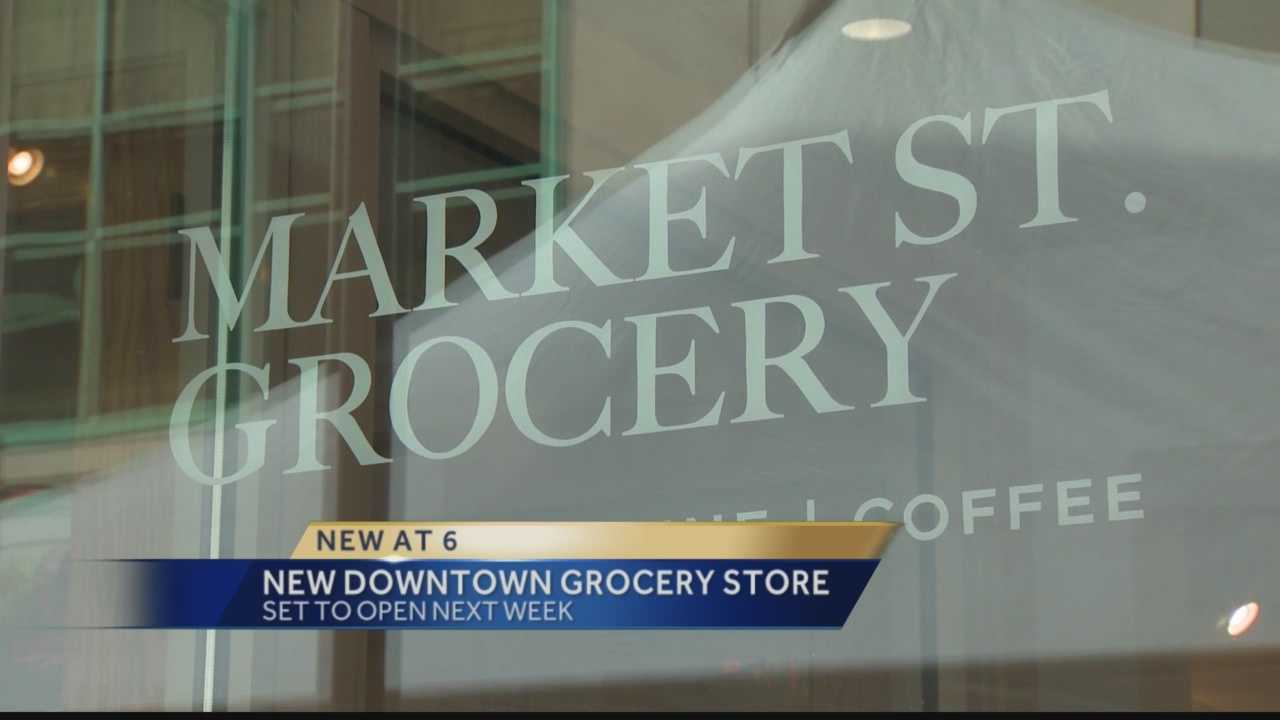 The downtown grocery store will offer fresh produce, prepared foods, a bakery and even a wine par.  It's the first time in five years people downtown will have a grocery store within walking distance.