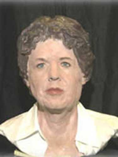 This is an age-enhanced bust of Elizabeth Anna Duke done in 2004.