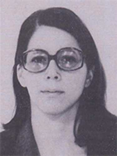 Catherine Marie Kerkow is wanted for her alleged involvement in the hijacking of Western Airlines Flight 701 from Los Angeles to Seattle on June 3, 1972. This picture was taken in 1975.