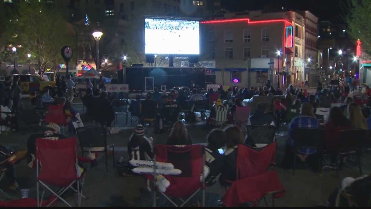 Market Square big screen