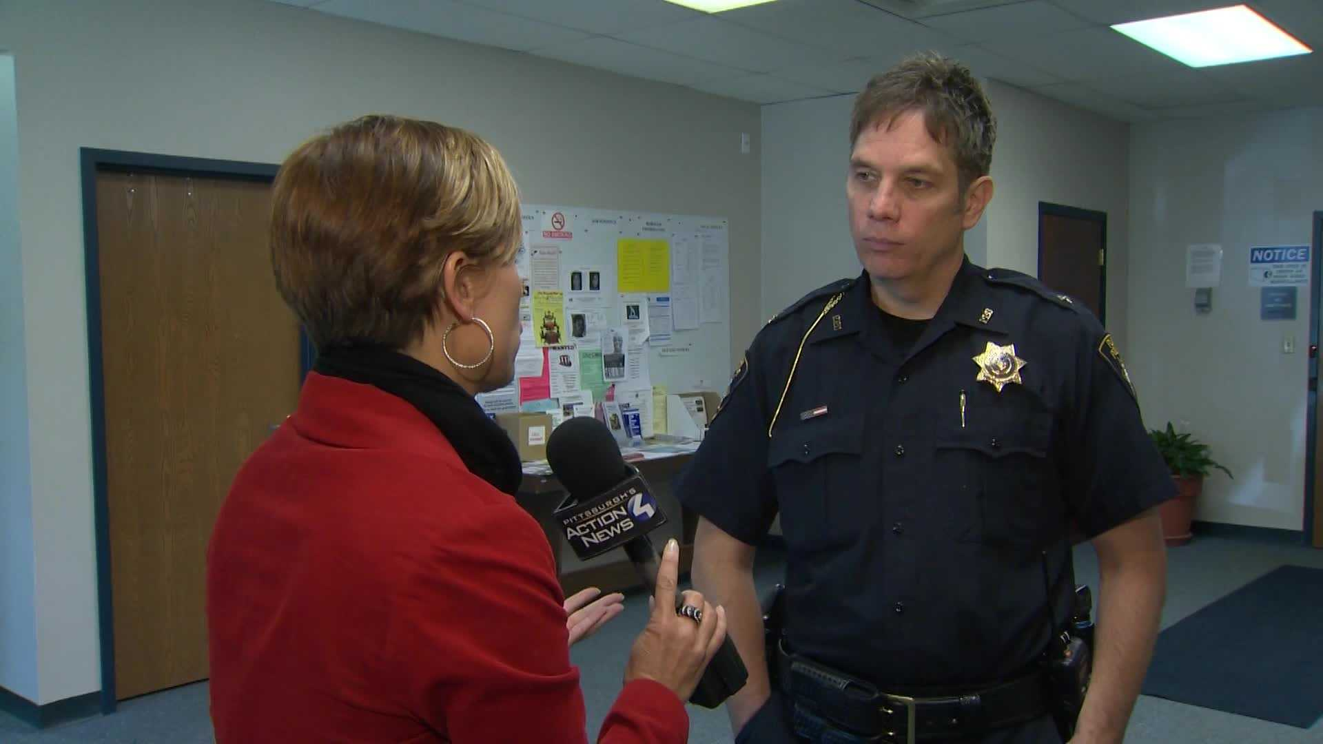 Marcie Cipriani interviews Plum Police Chief Jeffrey Armstrong.
