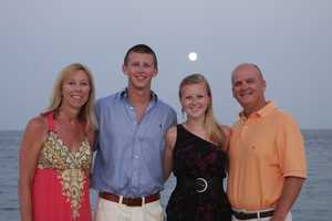 BEACH MEMORIES: The Fergusons are looking forward to Sean's continued progress into summertime... and family beachtime.