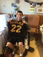 CUTCH IS CLUTCH: Sean holds up his autographed Amdrew McCutchen jersey. #mvp