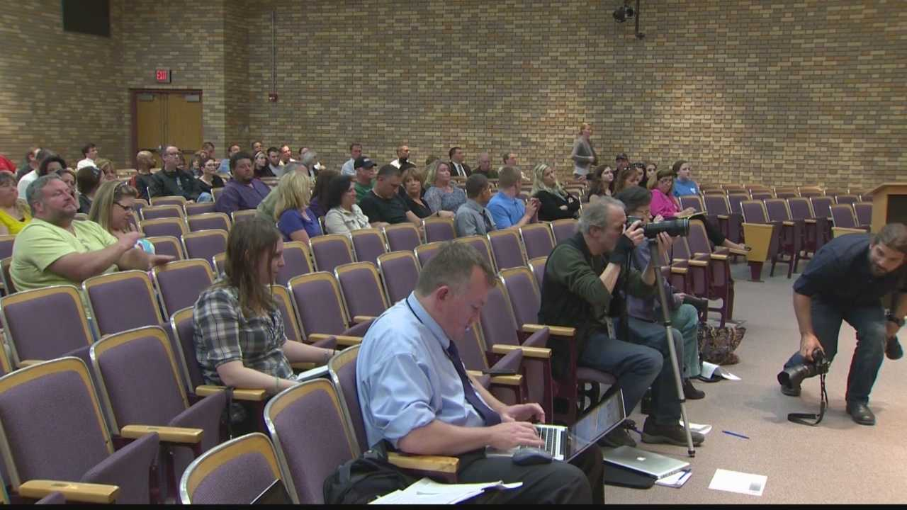 Angry parents were able to voice their concerns during the Plum school board meeting held on Tuesday, after last week's assembly sparked student protests and concern from the ACLU.