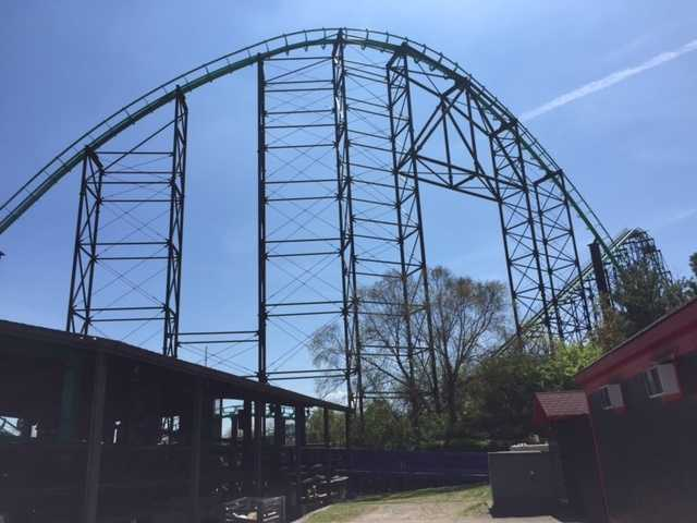The Phantom's Revenge roller coaster at Kennywood Park.