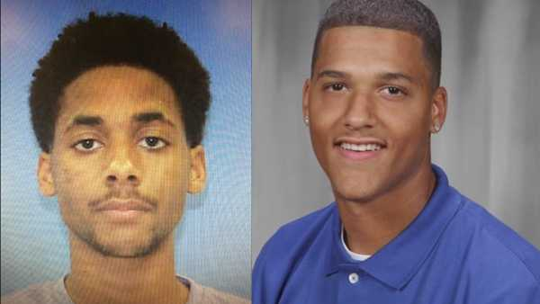 Hasani Simpkins (left) was found guilty of shooting Darrell Ross (right).