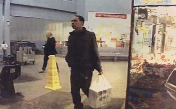 Police say this surveillance image shows Jordan Clemons leaving the Walmart store at Trinity Point with an Xbox that he bought using Karissa Kunco's father's debit card.