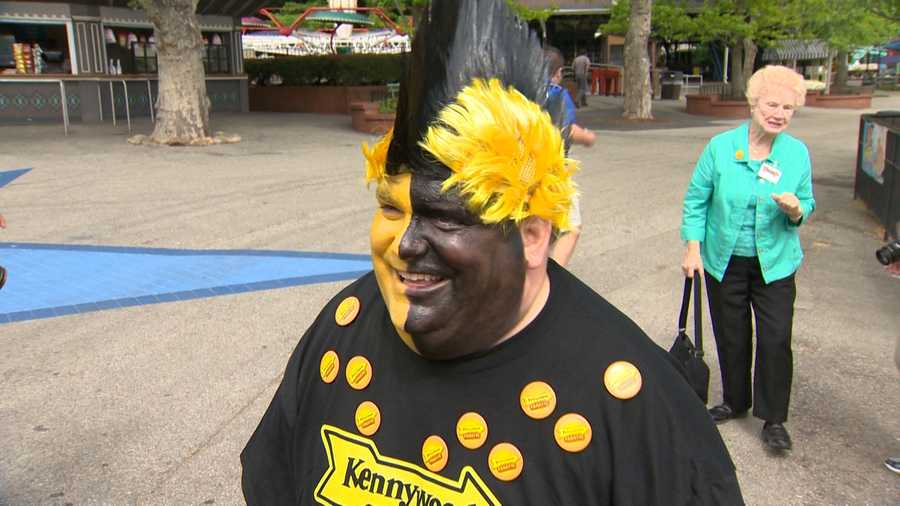 Kenny Kangaroo and Parker the Arrow have a new friend this season at Kennywood. Mr. Fanatic is letting visitors know about the new Kennywood Fanatic Club that will offers special promotions, discounts and merchandise savings.