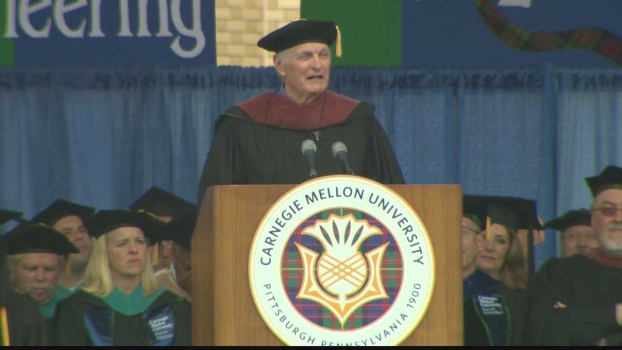 Carnegie Mellon University invited Alan Alda to be the keynote speaker at commencement ceremonies for the Class of 2015.