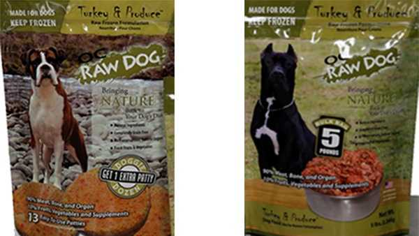 Dog food products from OC Raw Dog.