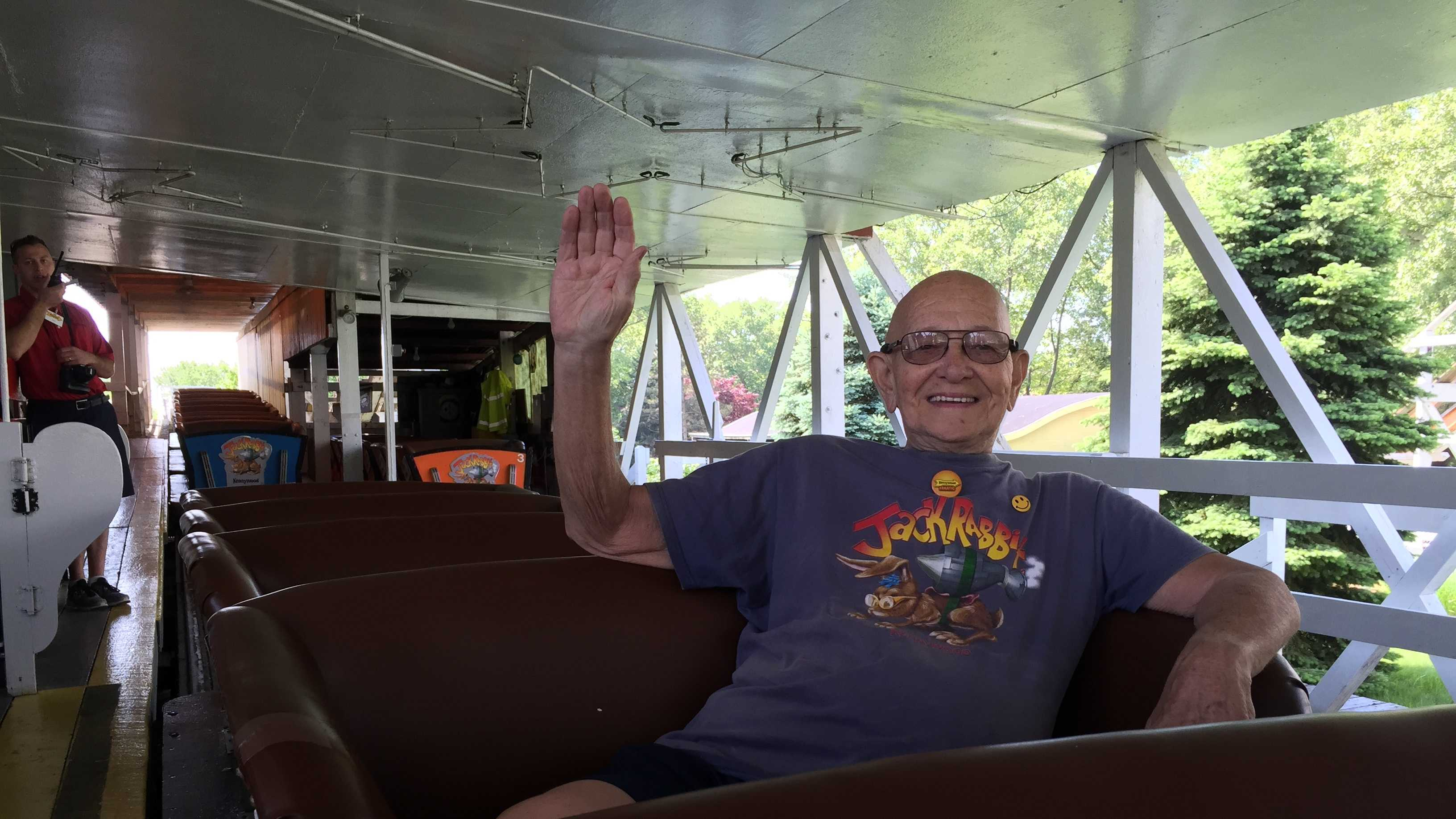 Kennywood's Jack Rabbit roller coaster celebrates its 95th birthday this week, and is doing so with the help of its biggest fan: Vic Kleman.