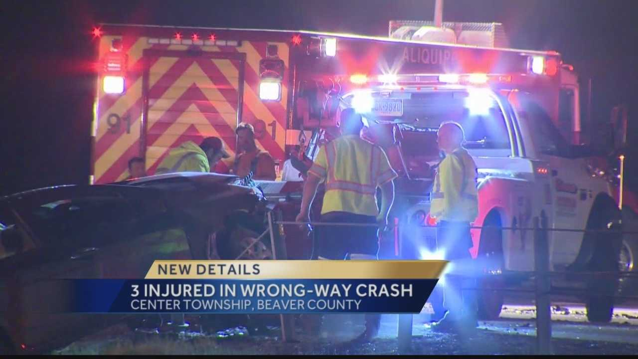 A major crash was reported on Interstate 376 in Center Township early Monday morning.