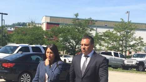 Lianne Danko arrives for a hearing with her lawyer.