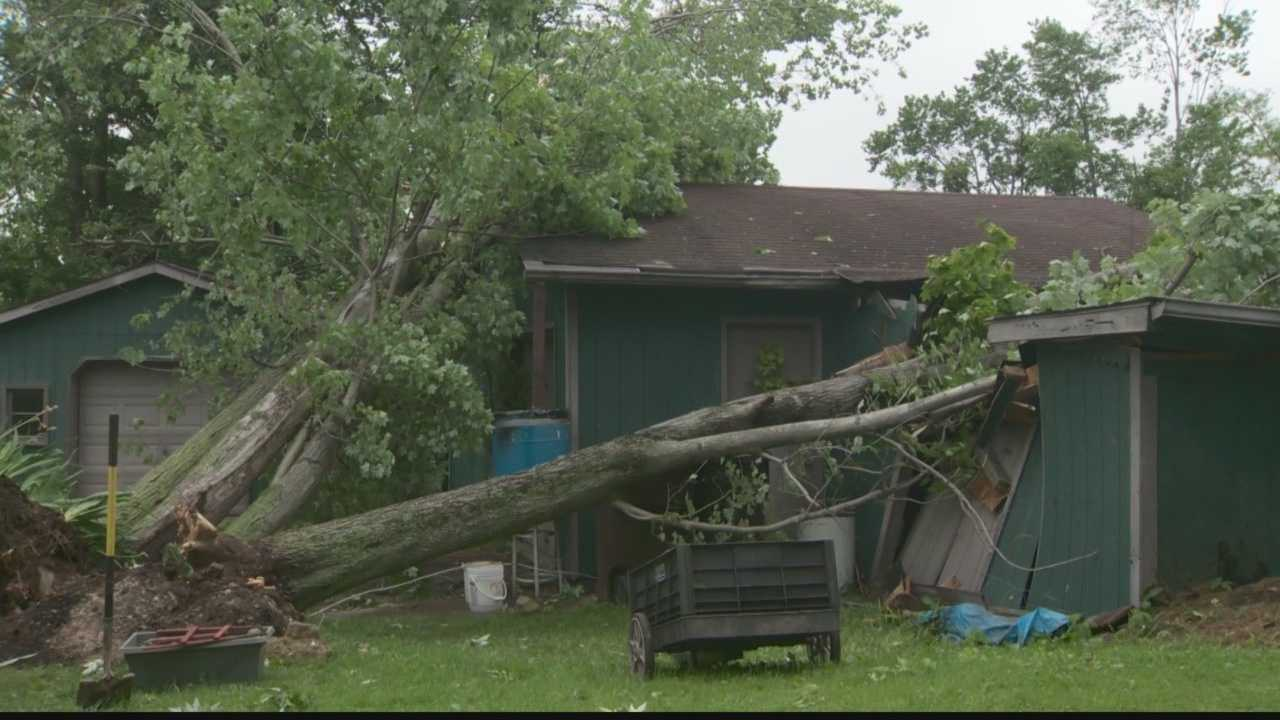 The National Weather Service confirms a tornado tore through Hermitage during Sunday's storm.