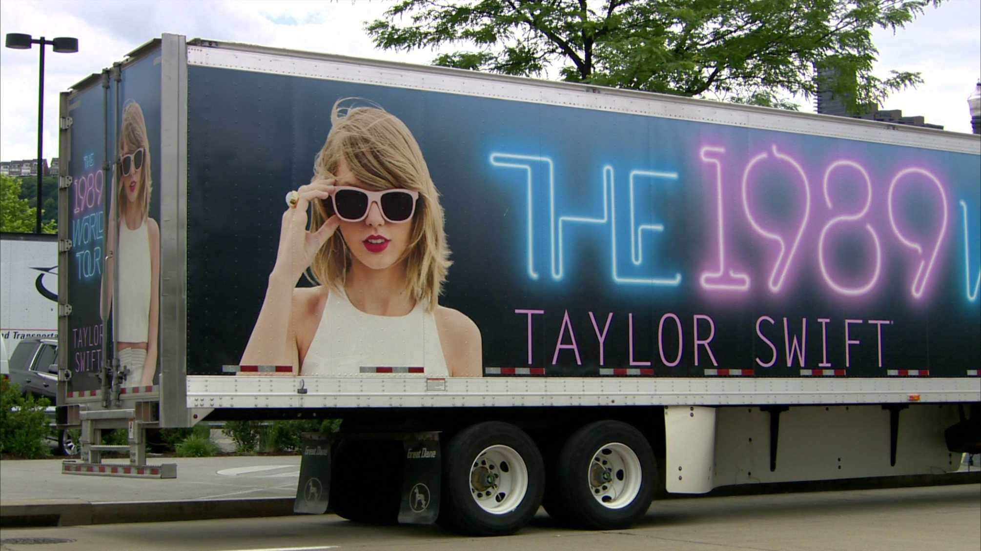 A truck from the Taylor Swift 1989 World Tour.